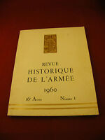 Revue Historique de l'Armée 1960 Numéro 1 Drago