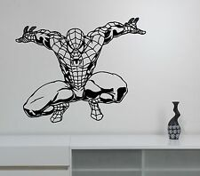 Spiderman Wall Sticker Comics Superhero Vinyl Decal Art Kids Room Decor spm3