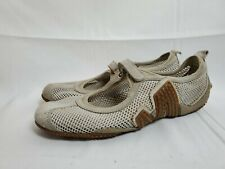 Merrell Womens Relay Tour White Netted Mesh Sticky Rubber Sz 8 Mary Jane