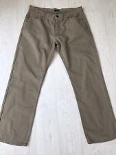 """Gents F&F Dark Beige Button Fly Jeans (Size 36"""" Waist, 30"""" Leg)"""