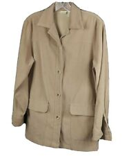 MERONA Button Down Womens Xsmall Polyester Spandex Brown Jacket RN# 74246 WXS2