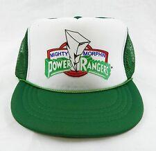 Vintage 1990's Mighty Morphin Power Rangers Green Mesh Trucker Hat