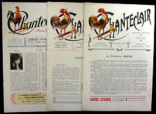 Chanteclair Journals 1907, 1909, 1933
