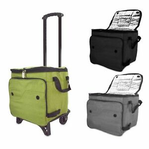 DALIX Outdoor Rolling Cooler Thermal Insulated Trolley Bag Sports Bag Leak Proof