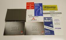 2004 MITSUBISHI LANCER OWNERS MANUAL GUIDE V4 2.0L OZ RALLY LS ES MAN AUTO TRANS