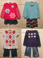 Gymboree Smart and Sweet Girl 10PC Lot Bird Floral Top Skirt Jeans Pant Set 4T 4