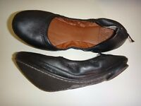 Lucky Brand Women's Ballet Flats Leather Black size 6M