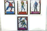 1994 FLEER AMAZING SPIDER-MAN SUSPENDED ANIMATION CEL LOT OF 4 CHASE CARDS