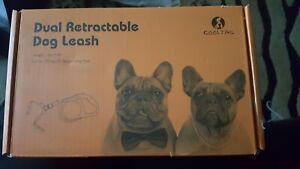 KOOLTAIL Dual Retractable DOG Leash Heavy Duty Double Headed Extends16' ORANGE