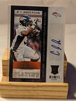 CJ ANDERSON RC /99 2013 Panini Contenders #116 Rookie Playoff Ticket AUTO🔥🏈🔥