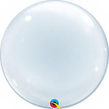 "Qualatex Deco burbuja globos - Bebé pisadas huellas de lunares corazones 20"" transparente"