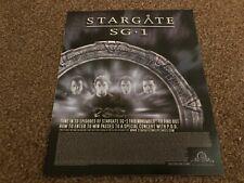 "(RSM26) ADVERT/POSTER 12X10"" STARGATE SG.1"