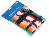 Stranded Embroidery Thread 36 Bright Colours Floss Skeins Cross Stitch Bracelet