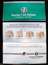SPILLA TCI Touring Club Italiano argento oro VOLTERRA Pisa Palazzo dei Priori