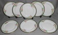 1985 Set (8) Royal Doulton AWAKENING PATTERN Salad Plates MADE IN ENGLAND