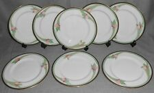 1985 Set (8) Royal Doulton AWAKENING PATTERN Salad Plates ENGLAND