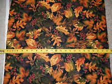 Leaves Leaf Acorn Berry Oak Wheat Maple Berries C3570 TT Cotton fabric