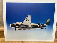 Vintage Military Airplane Print Picture Art, Lockheed A29 Hudson Bomber