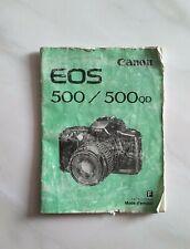 Mode D'emploi Pour Canon EOS 500 / 500 QD