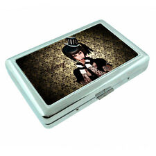 Tattoo Pin Up Girls D26 Silver Metal Cigarette Case RFID Protection Wallet