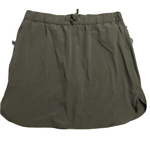 Athletic Works Drawstring Waist Women's Skort With Pockets, Size XXL, Army Green