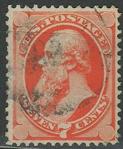 United States 1871 ☀ 7 Cents without grill - Edwin M. Stanton ☀ Used
