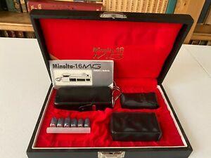 Vintage Minolta 16 MG Flash Spy Mini Camera - Boxed Set Kit