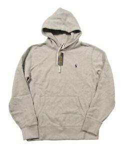 Polo Ralph Lauren Men's Grey Heather Cotton Blend Fleece Lined Pullover Hoodie