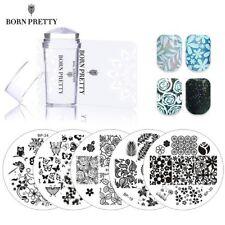BORN PRETTY 5Pcs Nature Theme Stamping Plates Stamp Stamper Scraper Manicure Kit