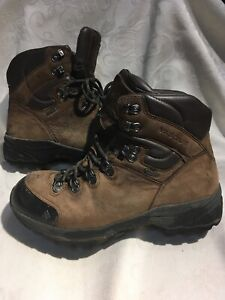 Vasque Men's Brown And Black Leather High Top Hiking Boots Size 8.5/41.5