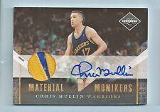 Chris Mullin 2010/11 Limited Material Monikers 3 Color con Parche Autógrafo #