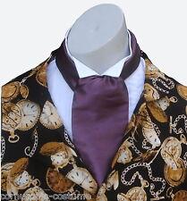 Aubergine  CRAVAT  Victorian / Edwardian / Georgian  / costume / fancy dress