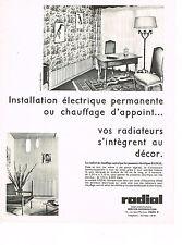 publicité advertising  1967   RADIAL  chauffage éléctrique