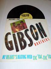 "GIBSON BROTHERS - My heart's Beating Wild - 1983 UK 2-track 12"" vinyl single"