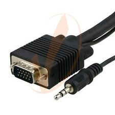 25FT VGA / SVGA / UXGA Monitor Cable with 3.5mm Audio (Male / Male) - 25 FT 7.6M