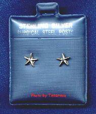 CUTE STAR STERLING SILVER EARRINGS SURGICAL STEEL POSTS