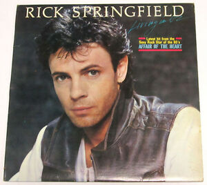 Philippines RICK SPRINGFIELD Living In Oz LP Record