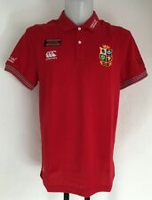 BRITISH AND IRISH LIONS RED PIQUE TRAINING POLO BY CANTERBURY SIZE ADULTS XXL