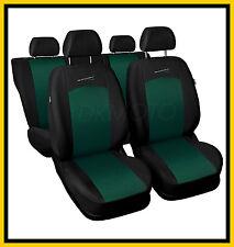 CAR SEAT COVERS Full set Universal fit Toyota Yaris - black/green