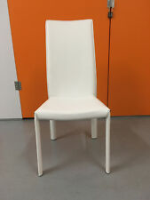 4 x Bonaldo Angelina White Leather High Back Dining Chairs - RRP £1826