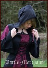 Mittelalter Kleid Nele, schwarz/bordeaux, Wikinger LARP Vikings
