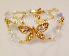Crystal Silver Plated Beaded Fashion Bracelets