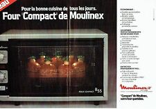 PUBLICITE ADVERTISING 0217  1978  le four compact Moulinex ( 2pages)