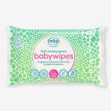 Mum & You Biodegradable and Compostable Plastic Free Baby Wipes 56ct (Pack of 2)