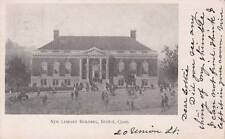 Antique POSTCARD c1909 New Library Building BRISTOL, CT 16657