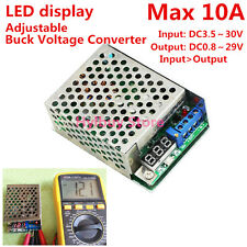 10A Step Down DC Buck Voltage Converter DC3.5~30V 5v 12v 24v Adjusable Regulator