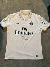 Signed Matchworn Nike Psg Away Shirt 2009 2010 Sakho Football Shirt Size Xl
