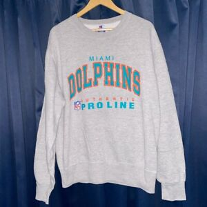 Vintage Champion Miami Dolphins Sweatshirt!! Size Large