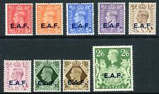 BRITISH OCCUPATION OF ITALIAN COLONIES (SOMALIA)-1943-6 UMM set Sg S1-S9