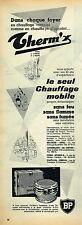G- Publicité Advertising 1955 Le Chauffage Mobile Therm'x BP